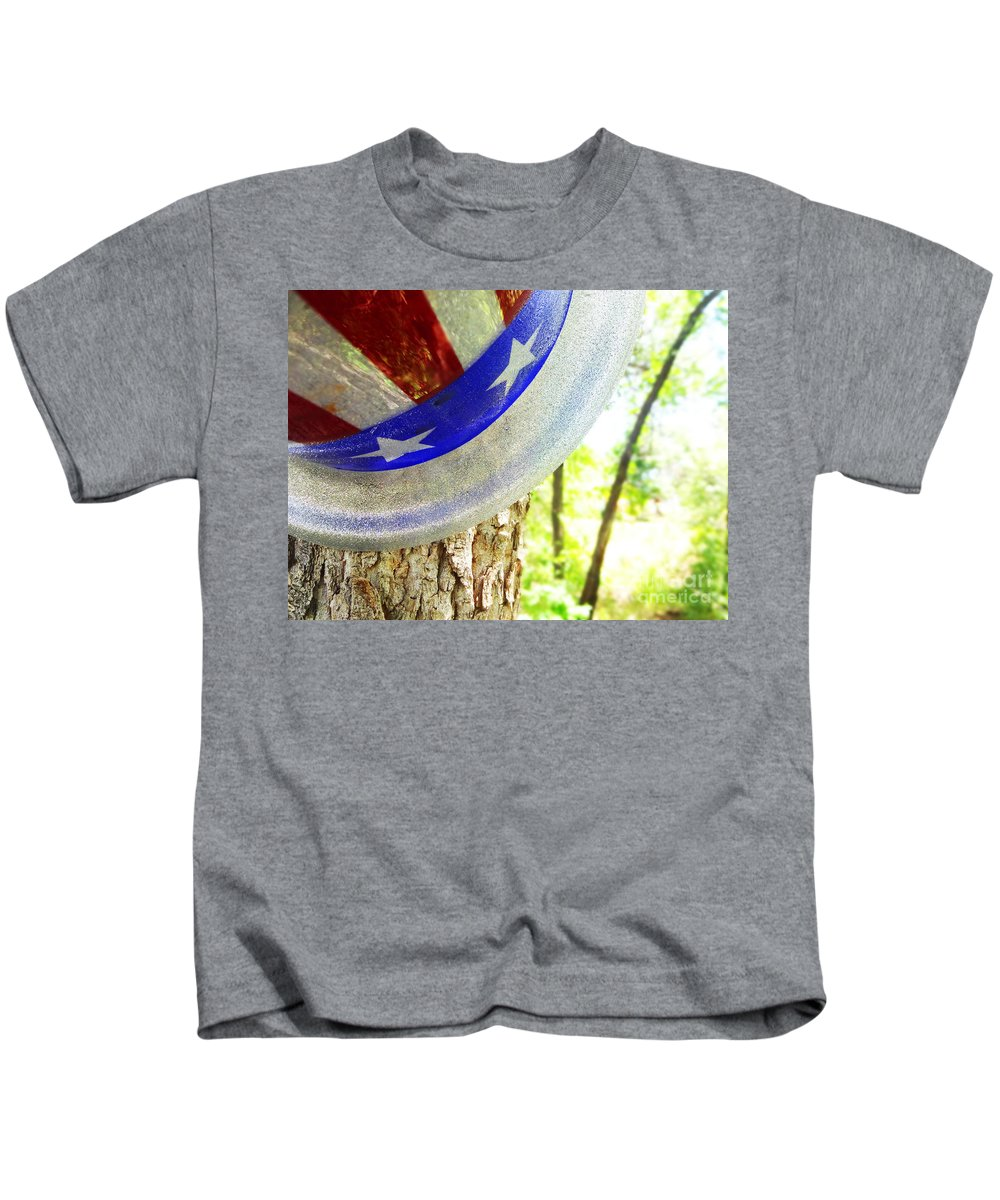Tree Kids T-Shirt featuring the photograph Star Spangled Hat by Korynn Neil