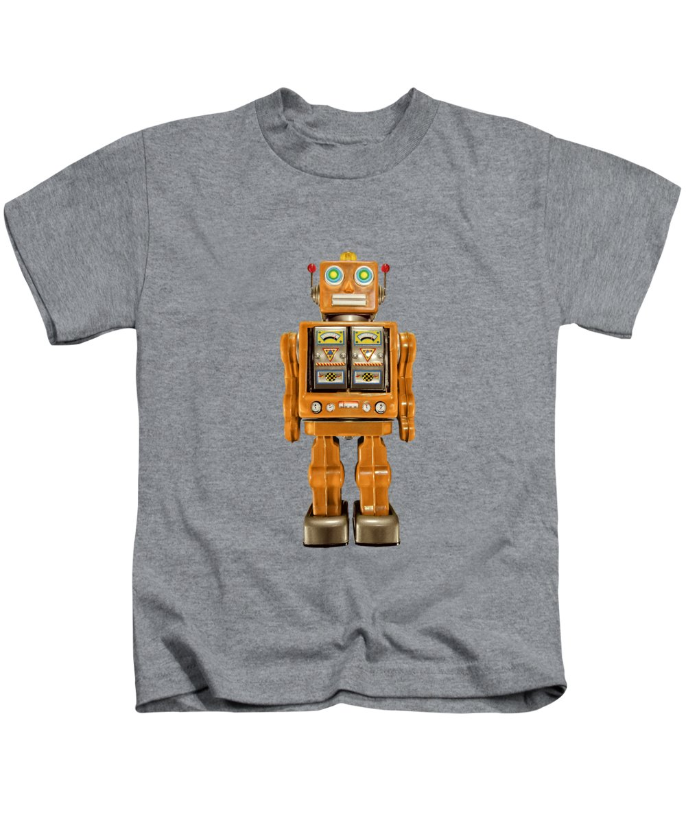 Classic Kids T-Shirt featuring the photograph Star Strider Robot Orange by YoPedro