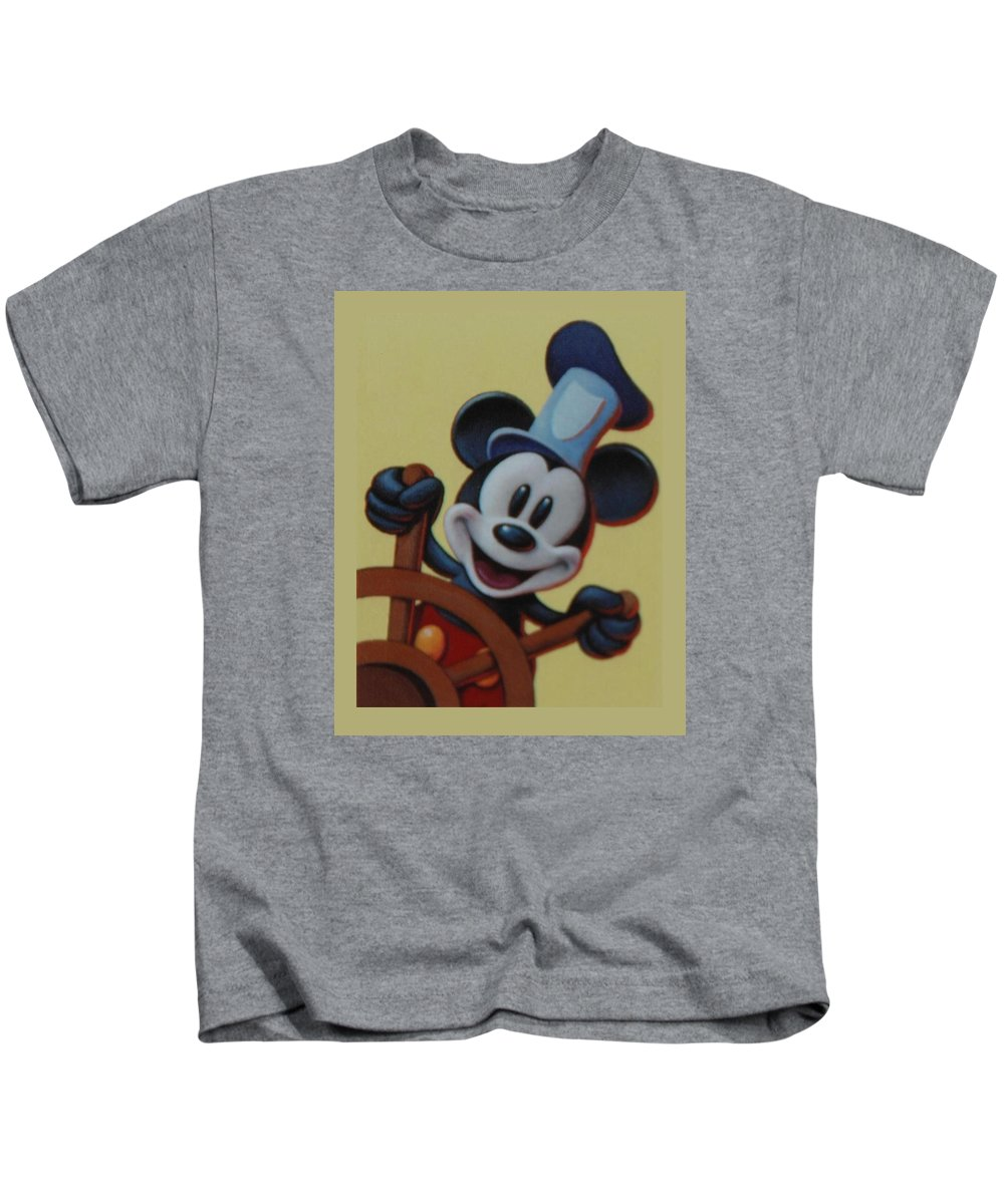 Disney Kids T-Shirt featuring the photograph Steamboat Willy by Rob Hans