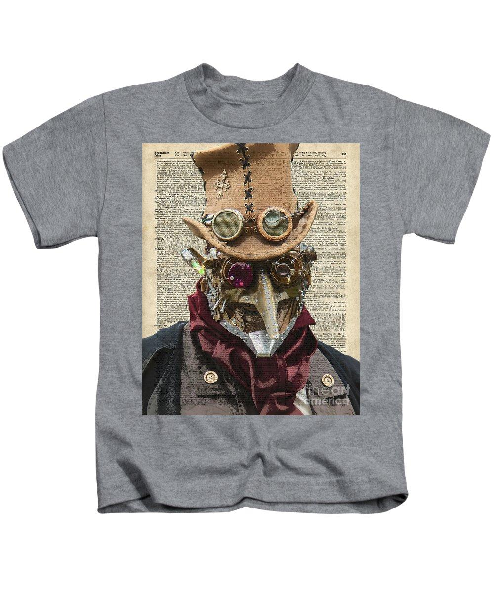 Clockwork Kids T-Shirt featuring the digital art Steampunk Robot by Anna W
