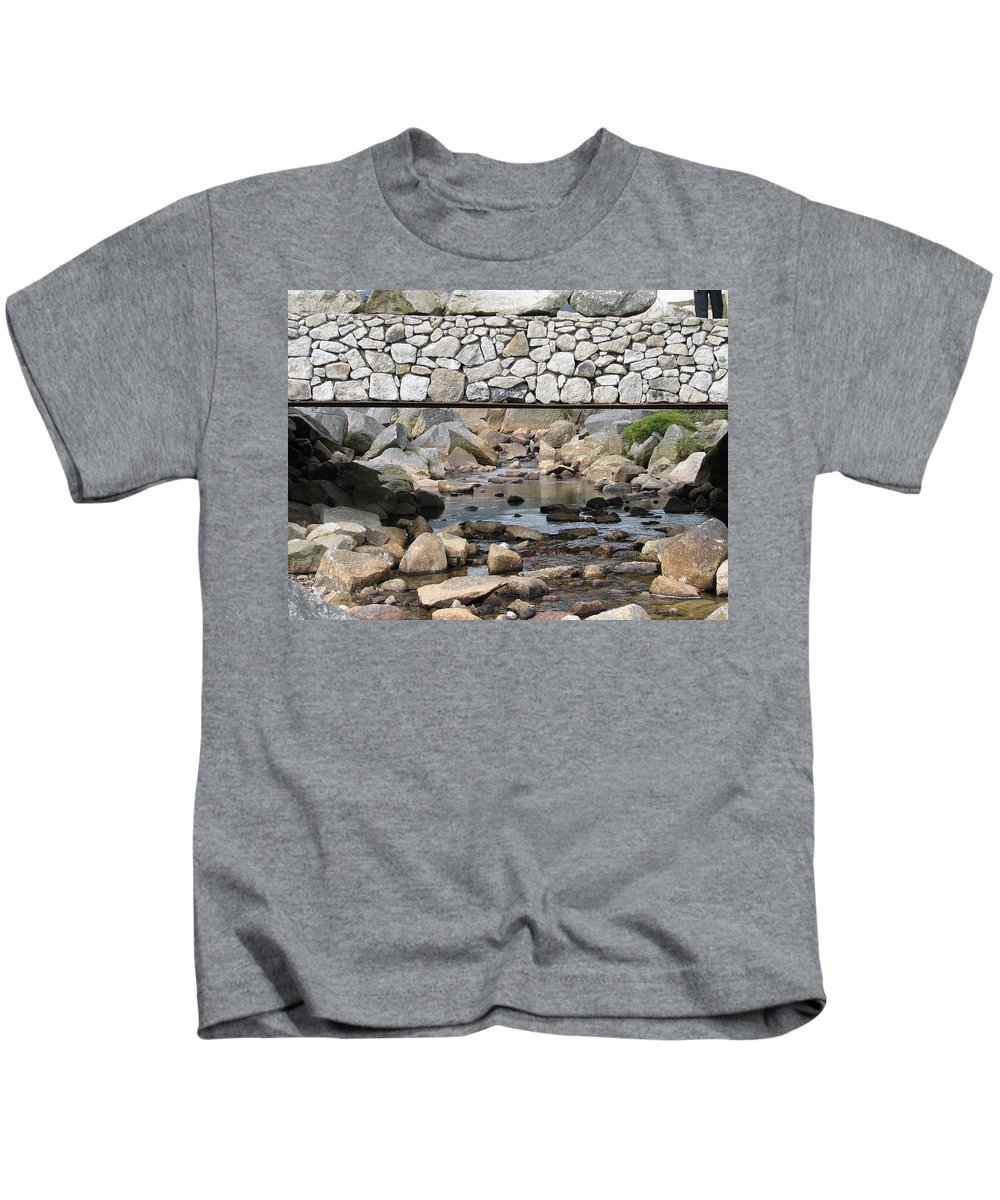 Stone Kids T-Shirt featuring the photograph Stone Bridge by Kelly Mezzapelle