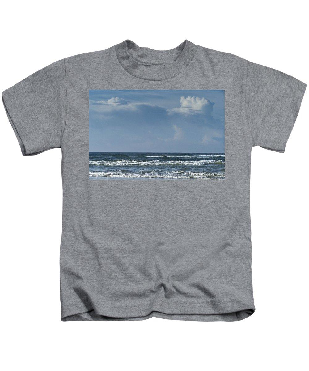 Ocean Kids T-Shirt featuring the photograph Storm Clouds On The Horizon Ocean Isle North Carolina by Teresa Mucha