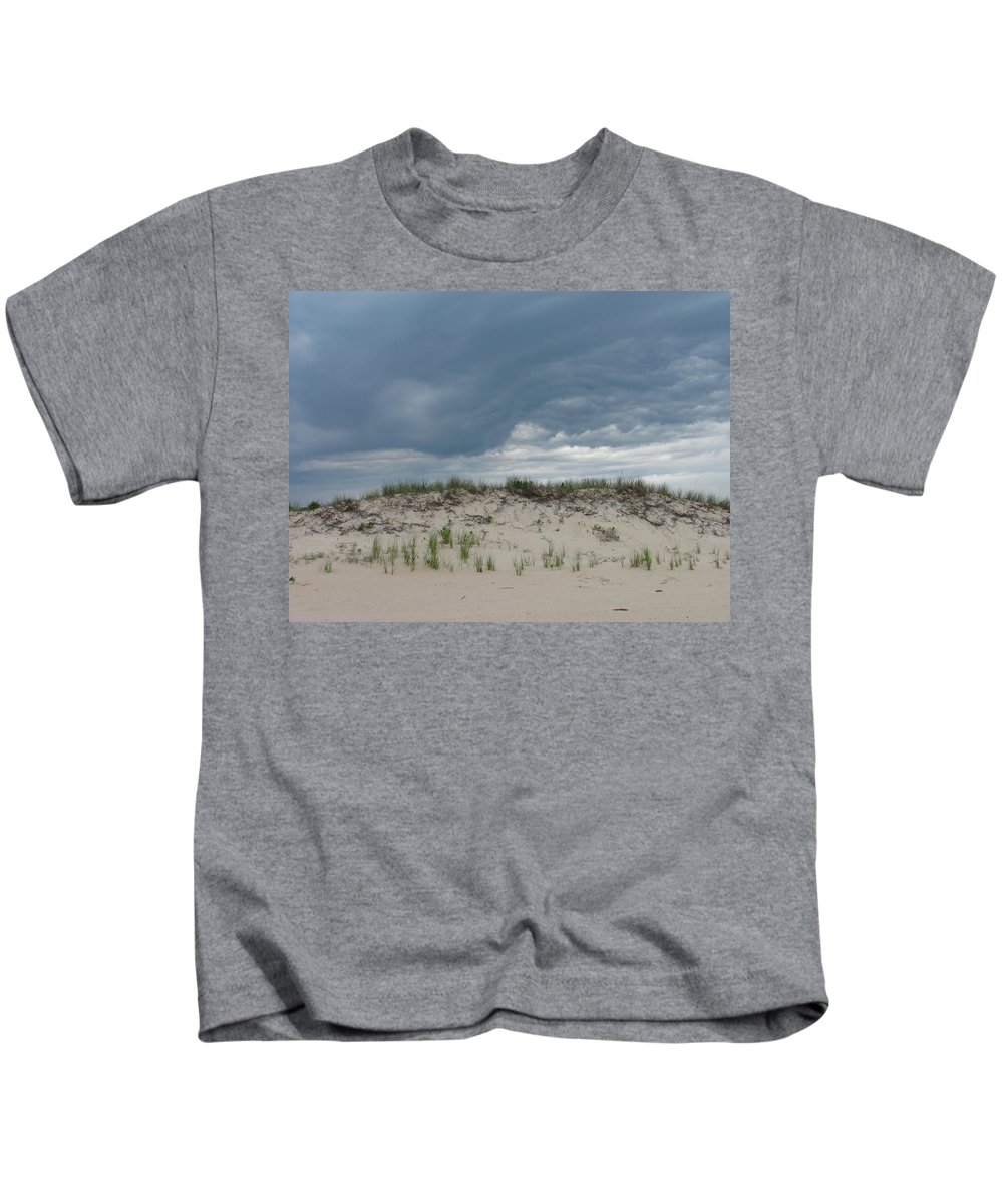 Storm Cloud Sand Dune Photograph Seashore Canvas Prints Landscape Kids T-Shirt featuring the photograph Storm Dune by Joshua Bales