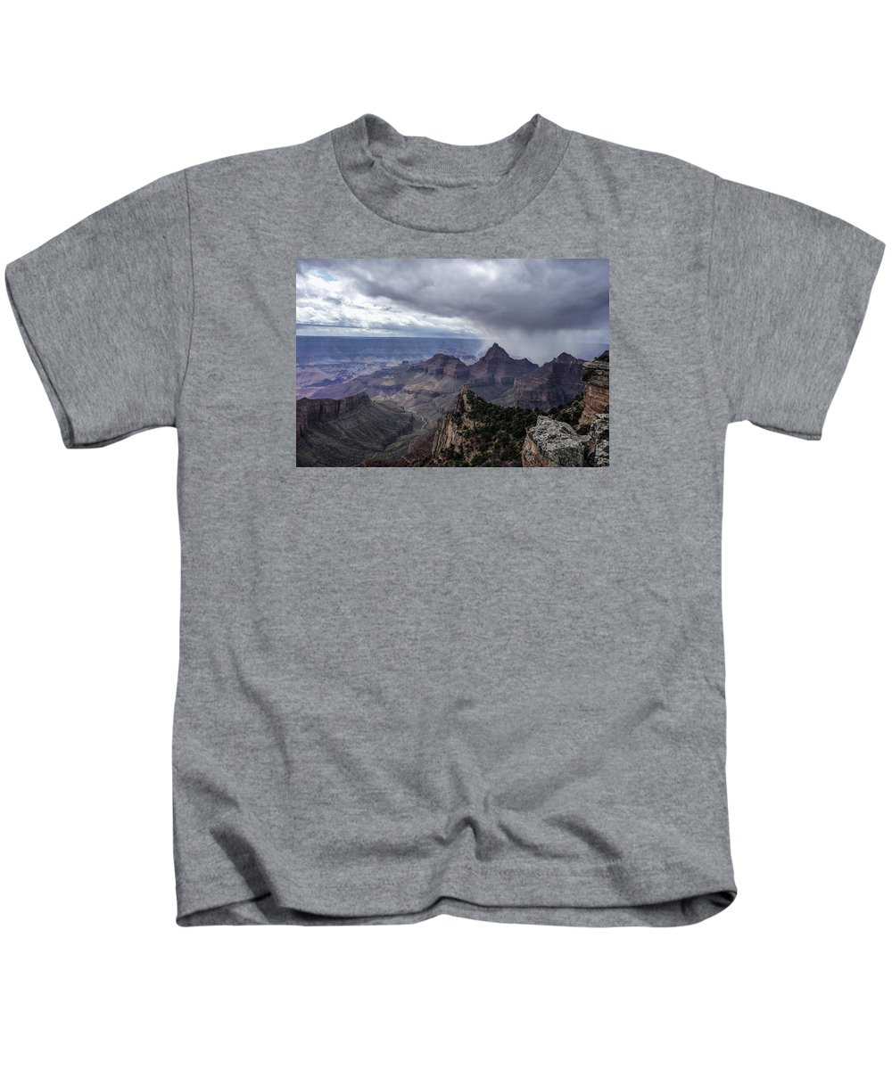 Storm Kids T-Shirt featuring the photograph Storm Over Grand Canyon by NaturesPix