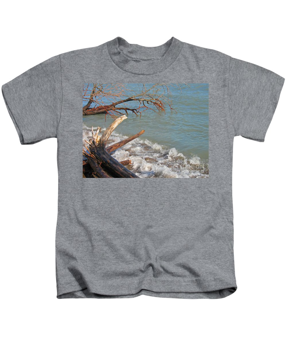 Beach Kids T-Shirt featuring the photograph Storm Ravaged by Ann Horn