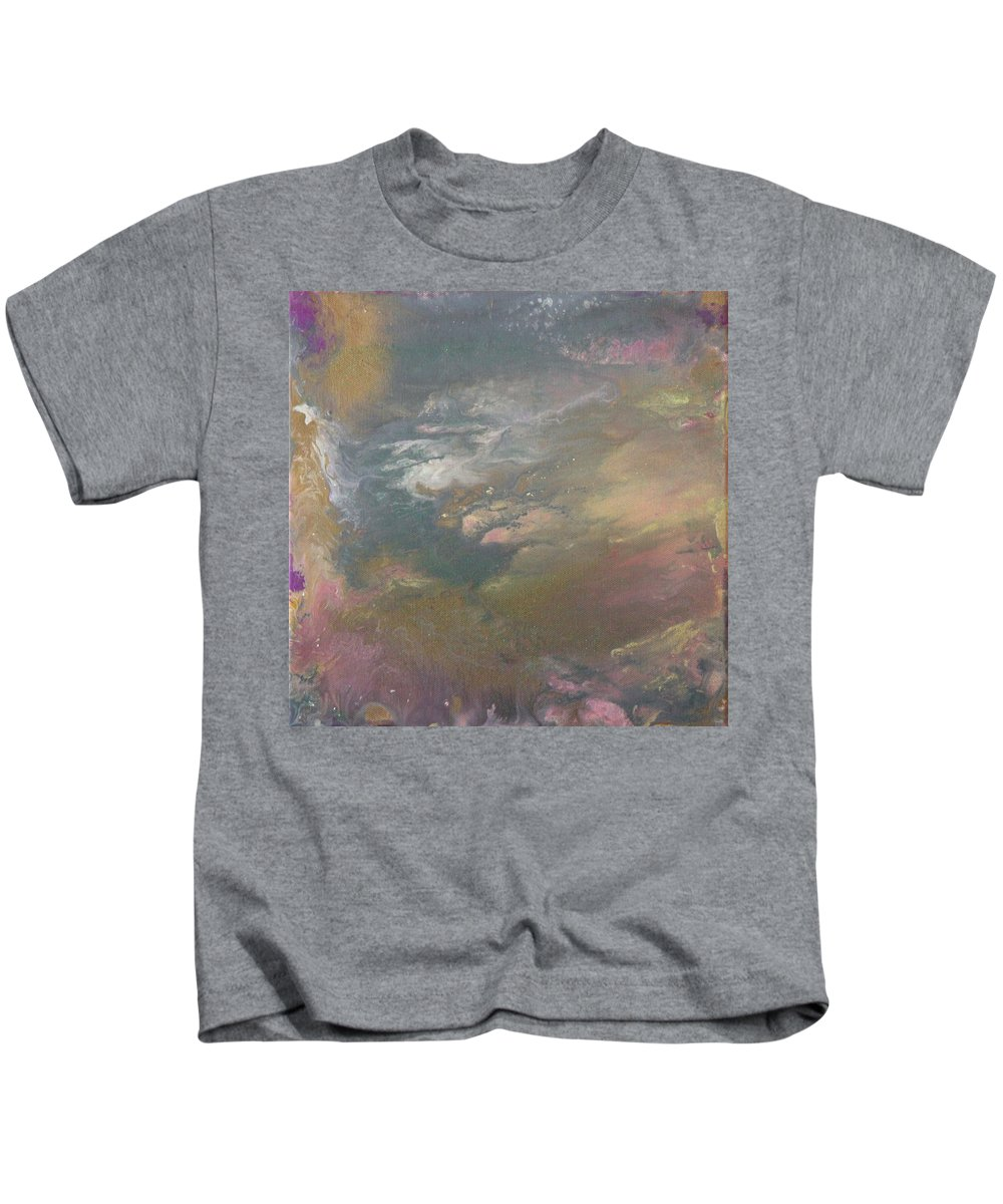 Storm Kids T-Shirt featuring the painting Storm Waves by Kimberly Snodgrass