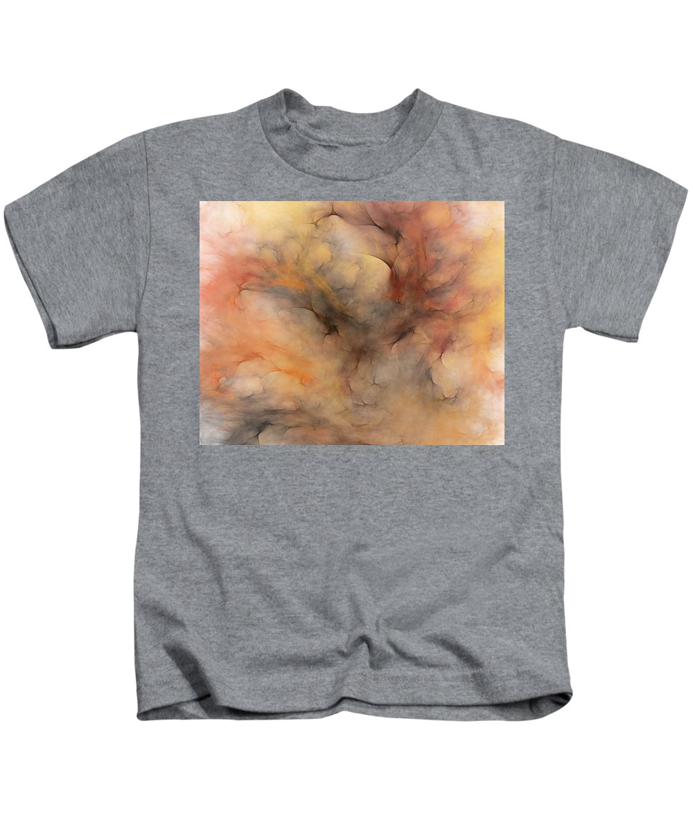 Abstract Kids T-Shirt featuring the digital art Stormy by David Lane