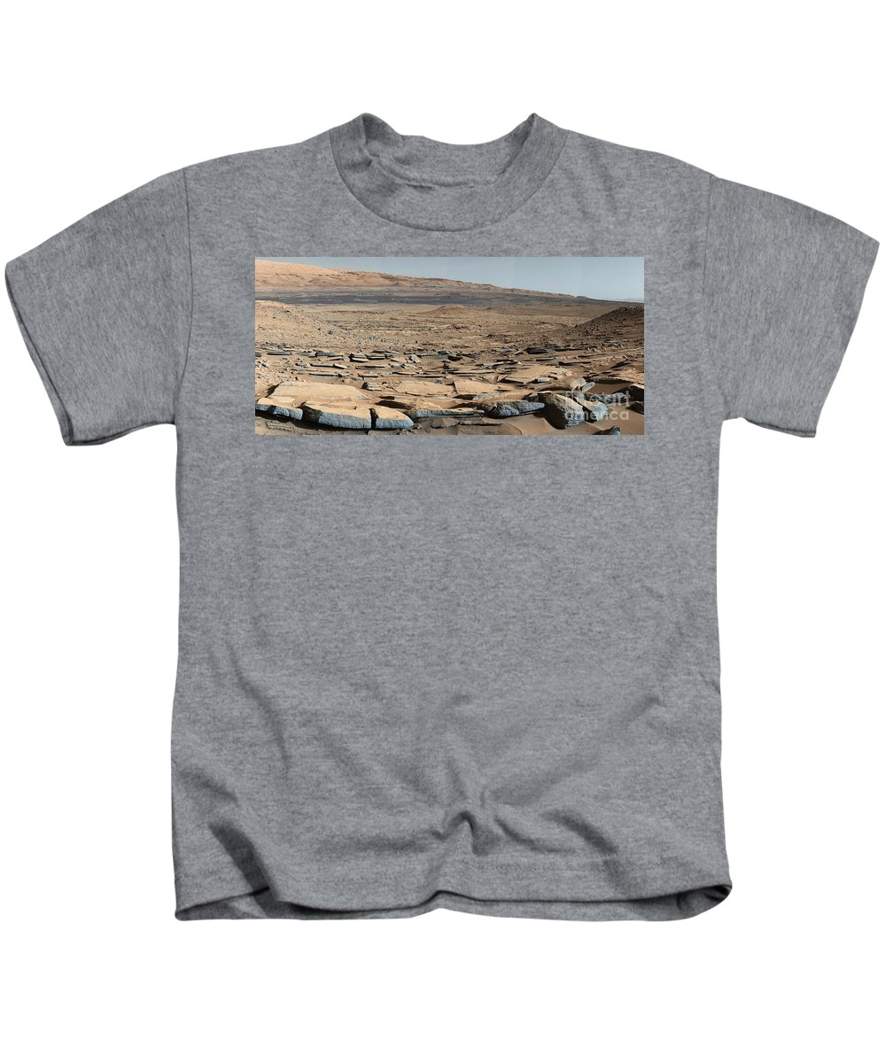 Science Kids T-Shirt featuring the photograph Stratified Rock On Mars by Science Source