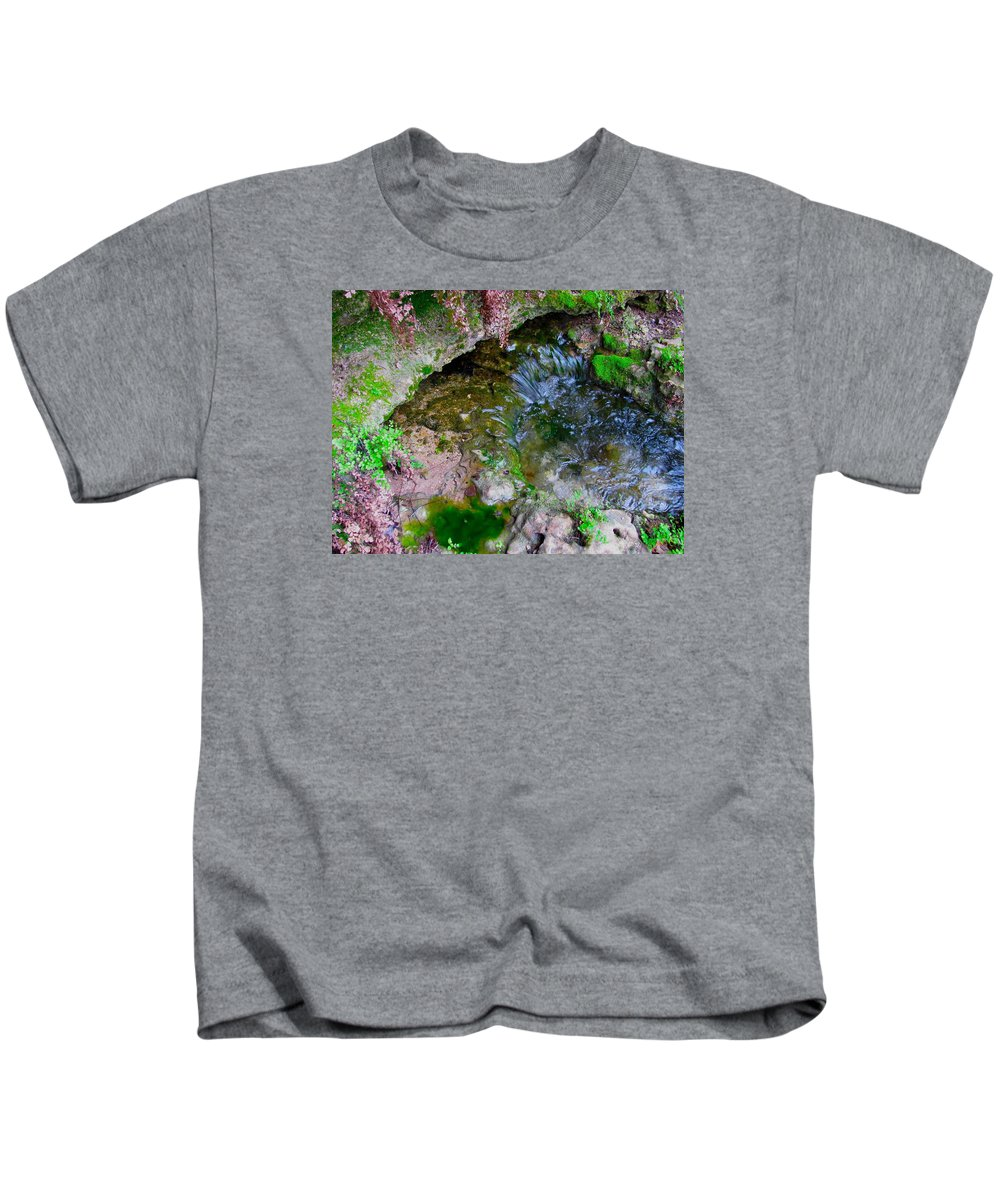 Cascade Kids T-Shirt featuring the photograph Stream by Austin Clarke