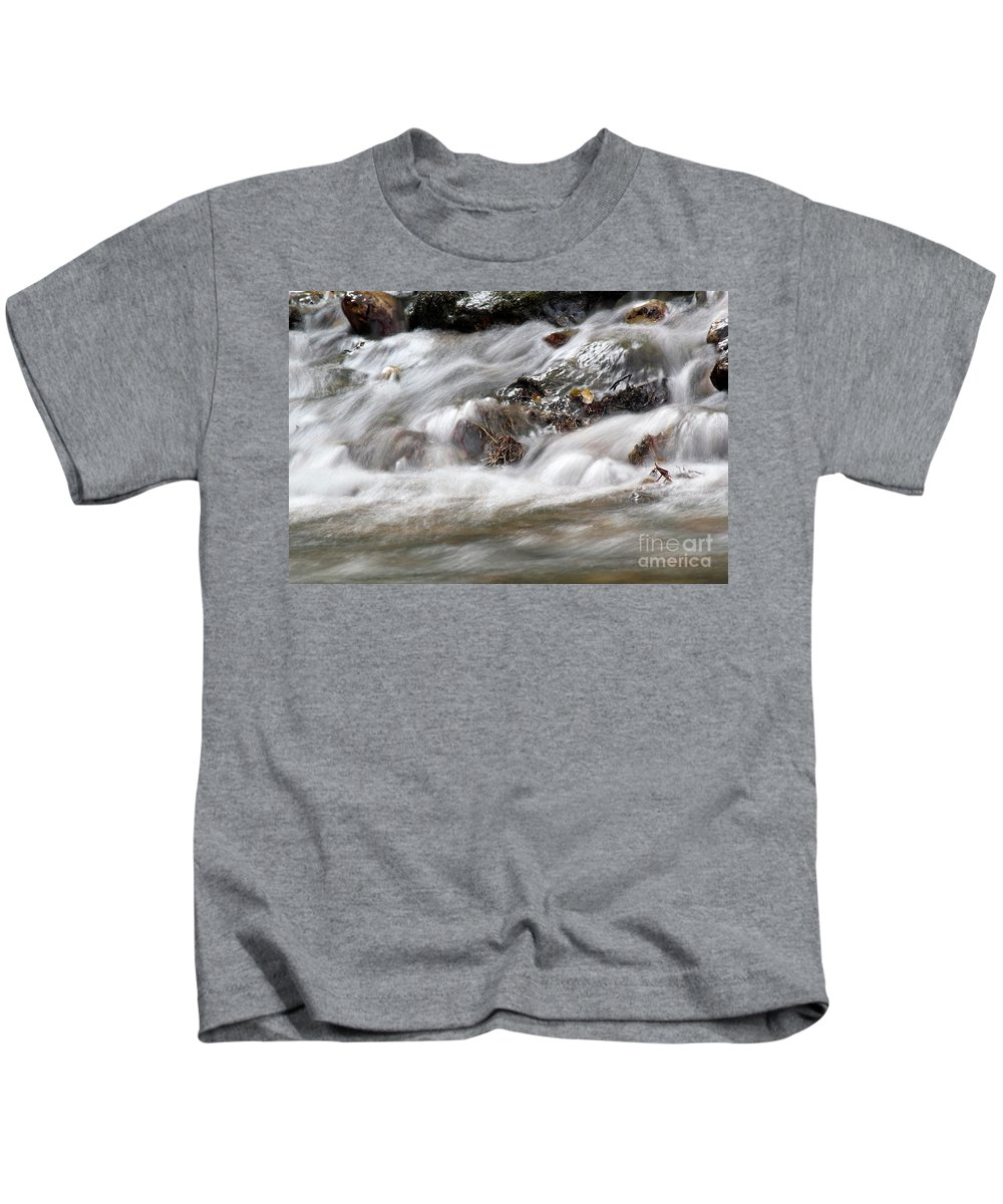 Stream Kids T-Shirt featuring the photograph Stream Nature Spring Scene by Goce Risteski