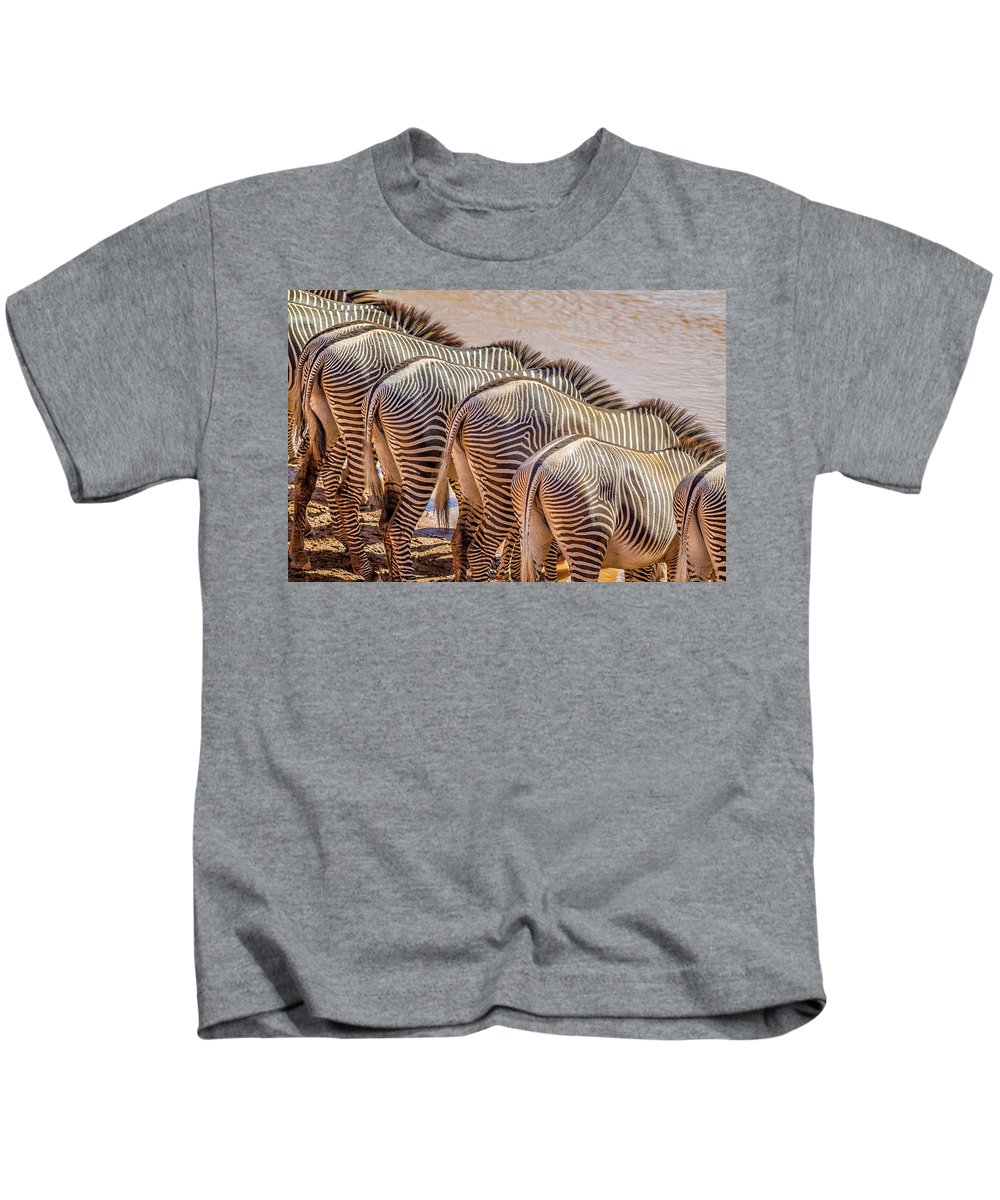 Africa Kids T-Shirt featuring the photograph Stripes 7578 by Karen Celella