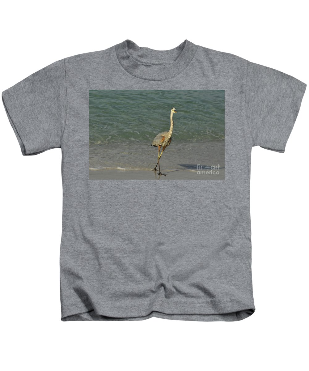 Beach Kids T-Shirt featuring the photograph Stroll by Vicky Tubb