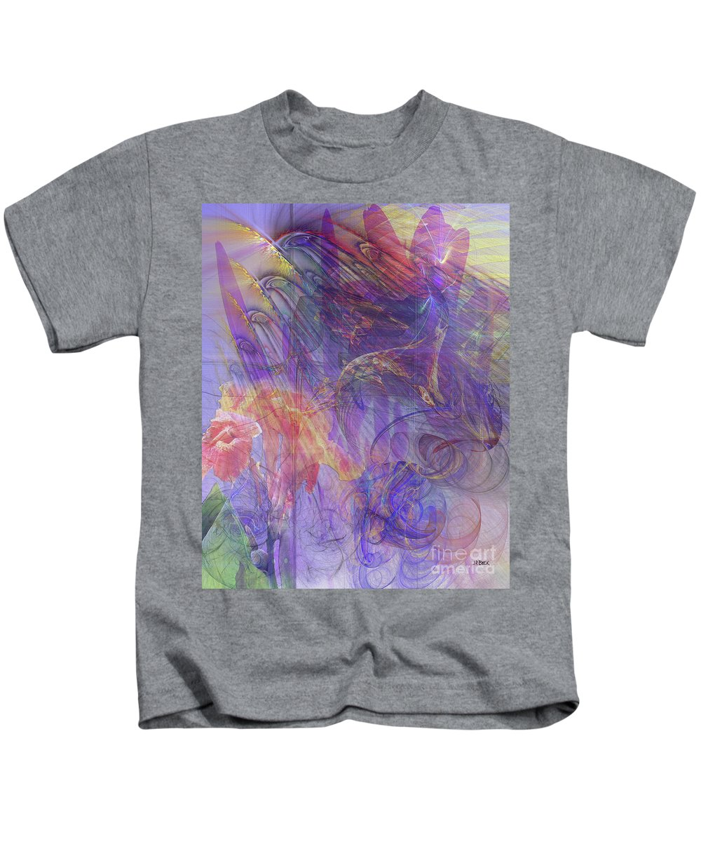 Summer Awakes Kids T-Shirt featuring the digital art Summer Awakes by John Beck