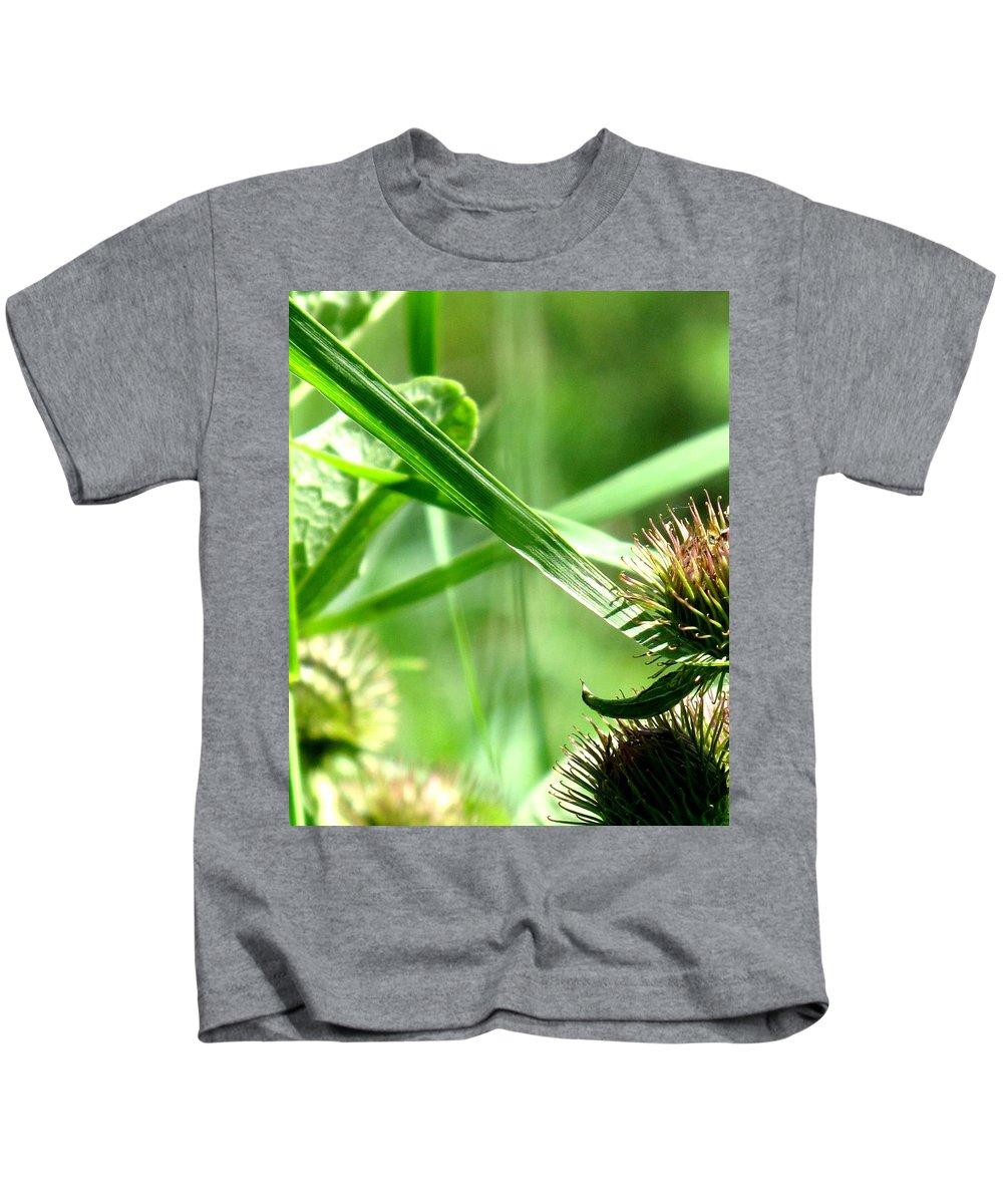 Grass Kids T-Shirt featuring the photograph Summer Composition by Ian MacDonald
