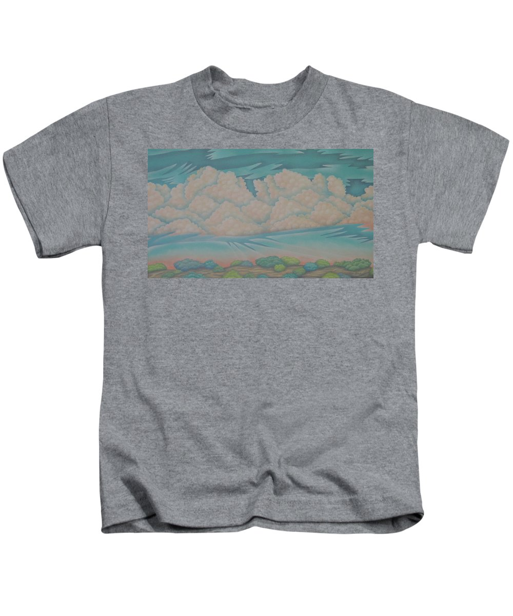 Landscape Kids T-Shirt featuring the painting Summer Sunrise by Jeniffer Stapher-Thomas