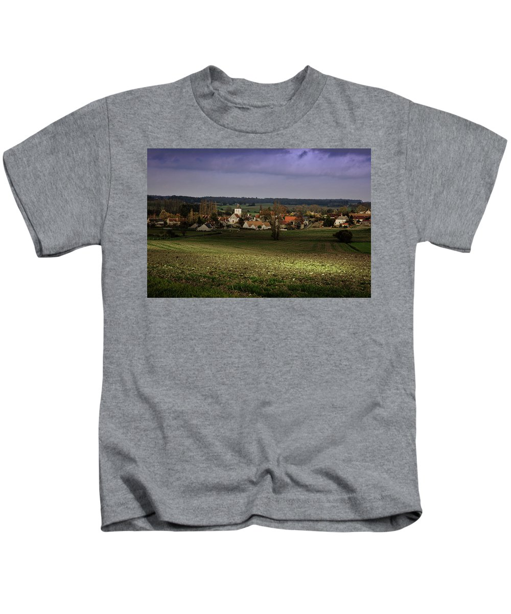 Loire Kids T-Shirt featuring the photograph Sunlight Over The Loire Valley by Hugh Smith