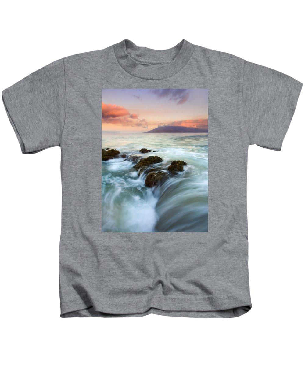 Sunrise Kids T-Shirt featuring the photograph Sunrise Drain by Mike Dawson
