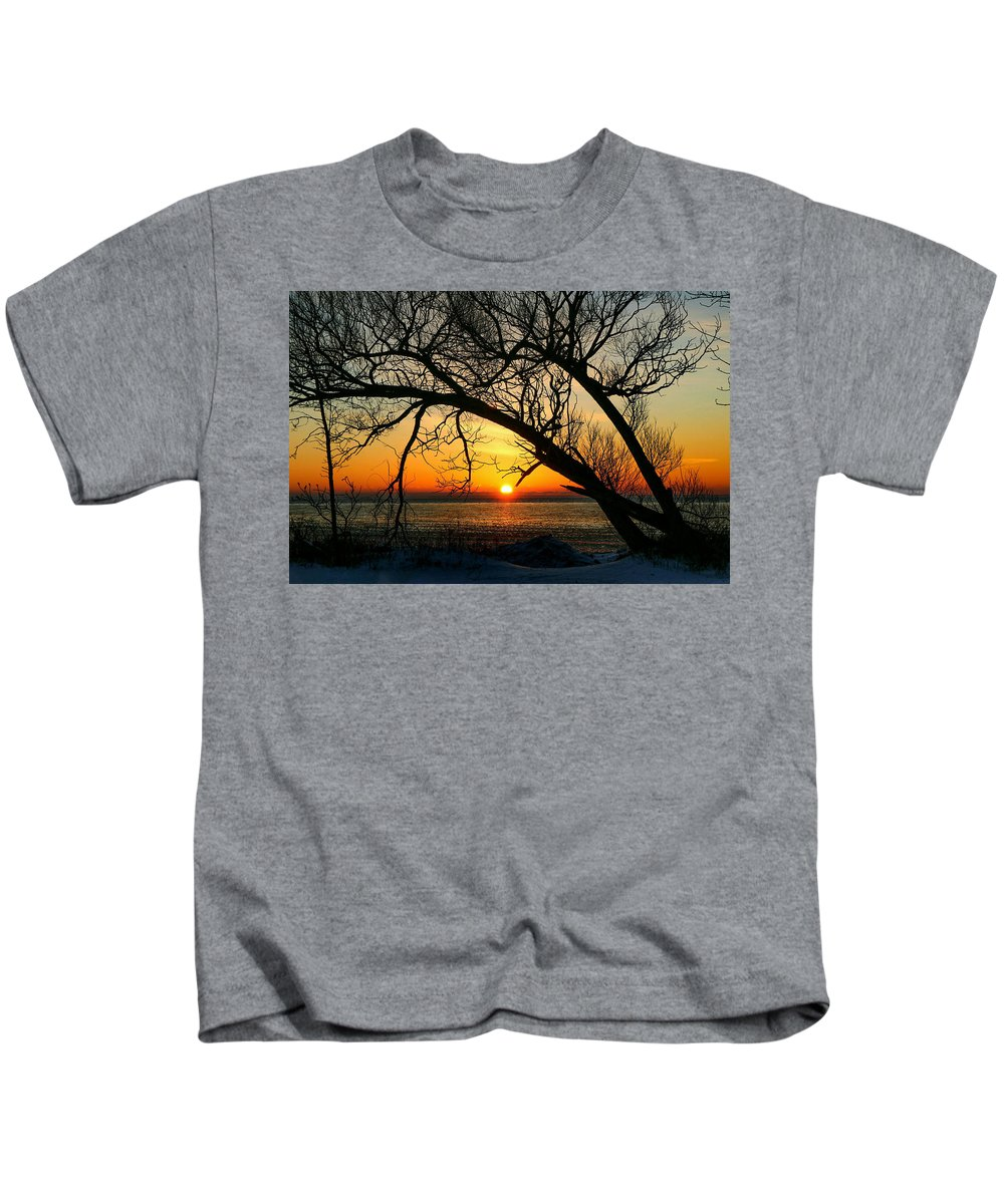 Landscape Kids T-Shirt featuring the photograph Sunrise by Mary Stilwell