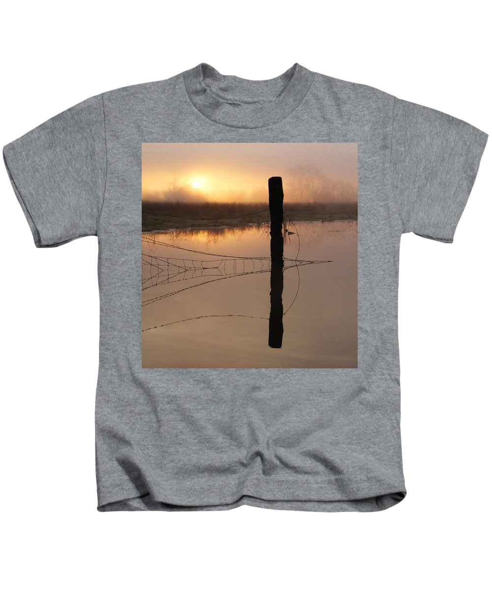 Sunrise Kids T-Shirt featuring the photograph Sunrise Reflection by Robert Woodward