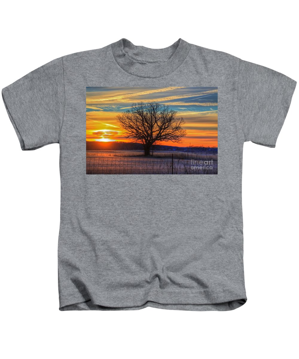 Sun Kids T-Shirt featuring the photograph Sunrise by Robert Pearson