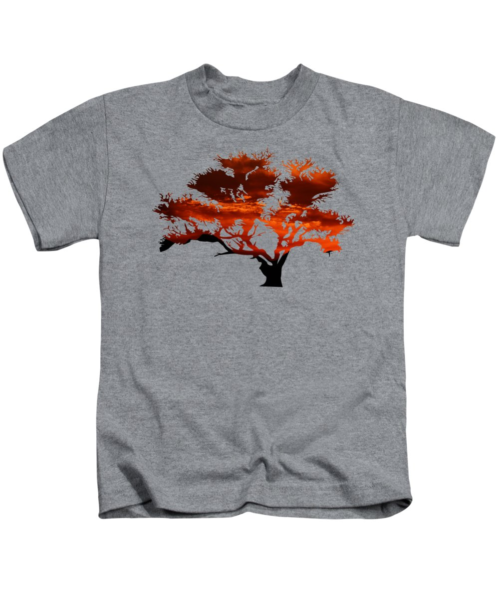 Sunrise Kids T-Shirt featuring the photograph Sunrise Tree 2 by Whispering Peaks Photography