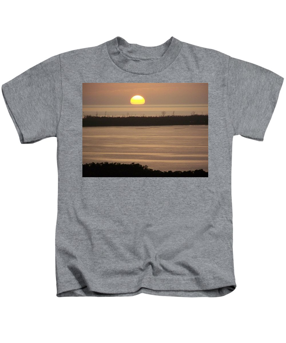 Sunset Kids T-Shirt featuring the photograph Sunset 0022 by Laurie Paci
