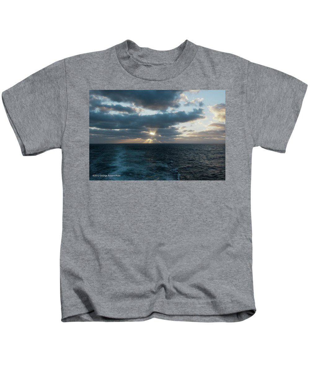 Cloud Kids T-Shirt featuring the photograph Sunset - 40 by George Phile