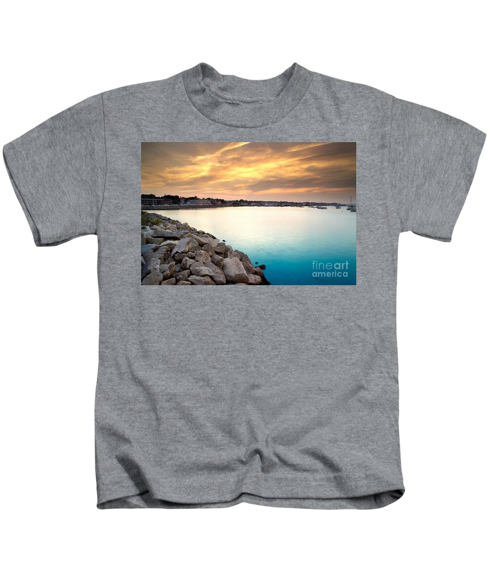 Sunset Kids T-Shirt featuring the photograph Sunset At Plymouth Harbor by Matt Suess
