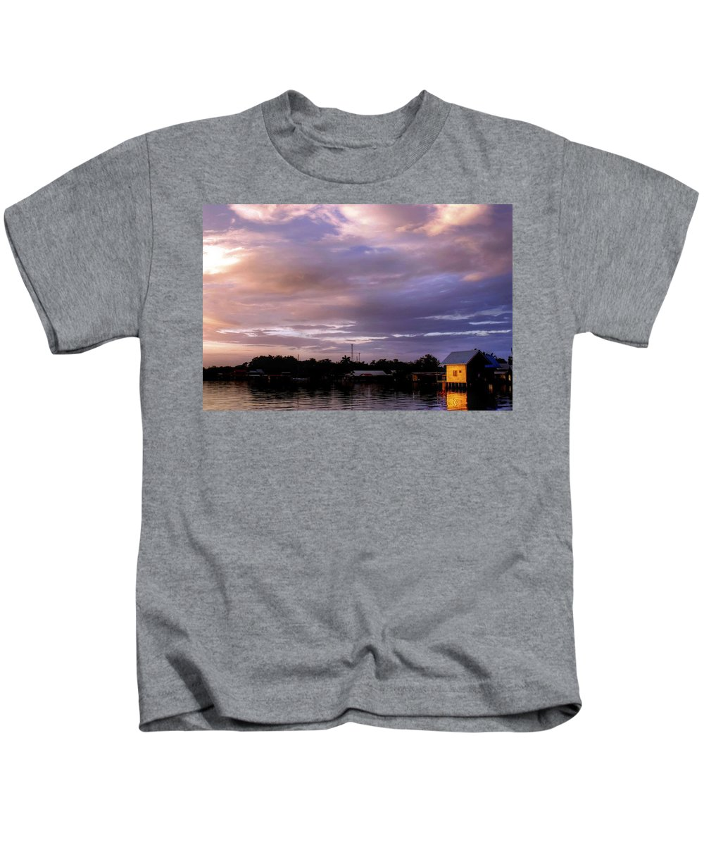 Sunset Kids T-Shirt featuring the photograph Sunset Hut by Dolly Sanchez