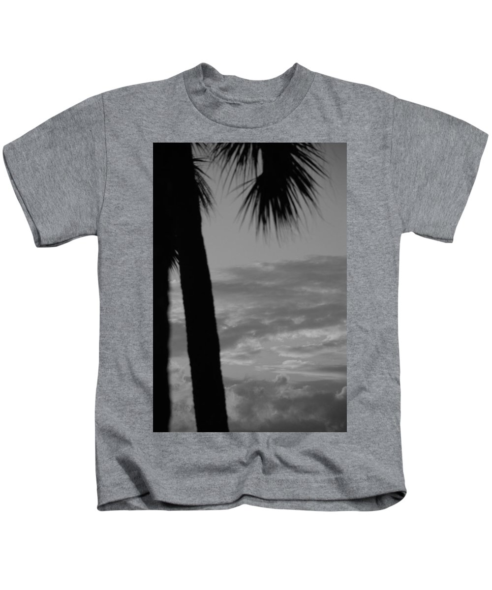 Black And White Kids T-Shirt featuring the photograph Sunset In Black And White by Rob Hans