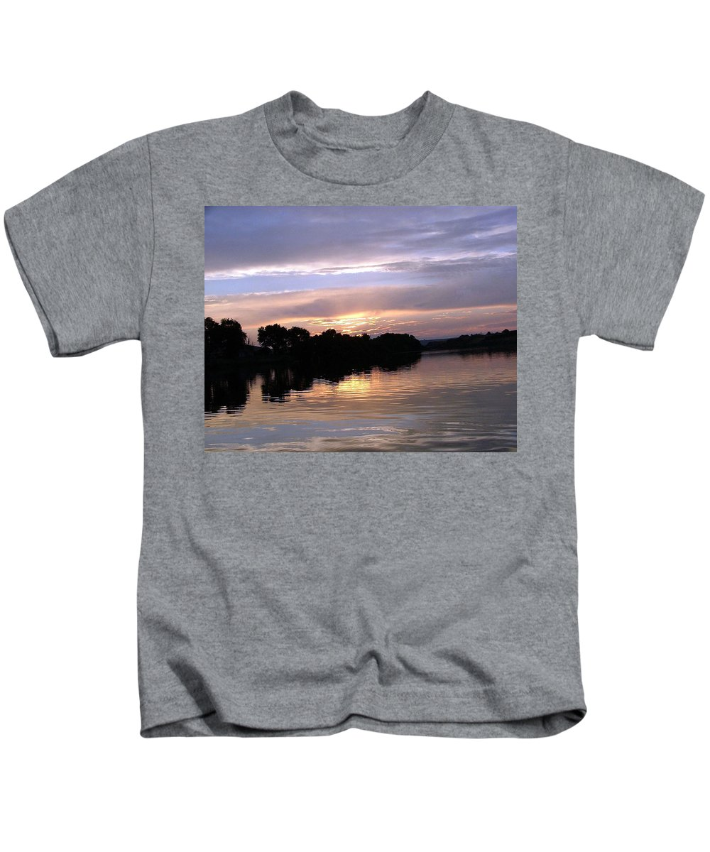 Snake River Kids T-Shirt featuring the photograph Sunset On The Snake by Dawn Blair