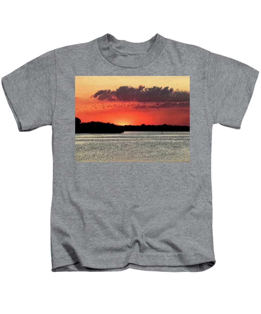 Sunset Kids T-Shirt featuring the photograph Sunset Over Tampa Bay 2 by John Trommer