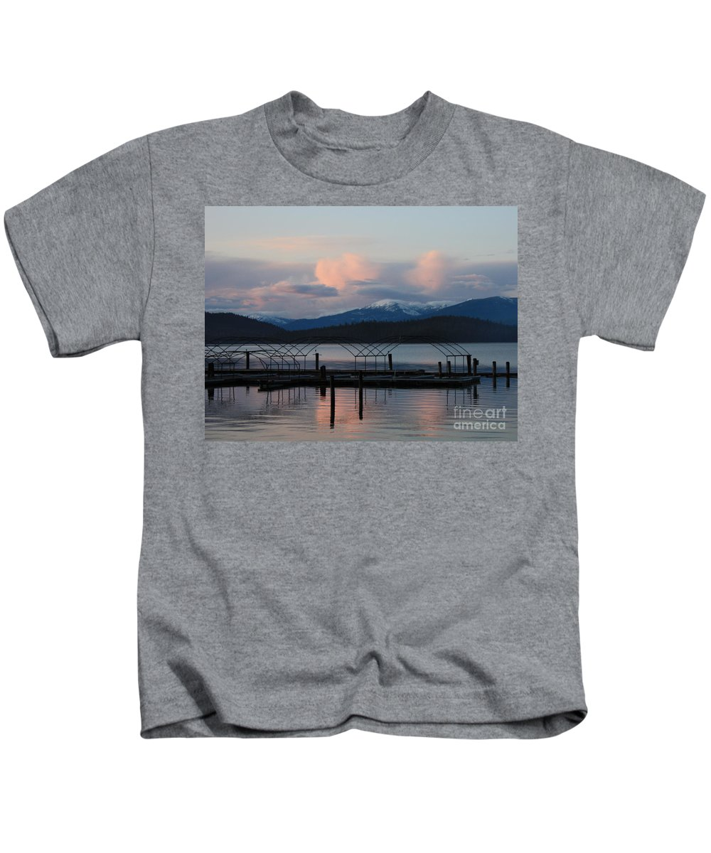 Priest Lake Kids T-Shirt featuring the photograph Sunset Reflecting Off Priest Lake by Carol Groenen