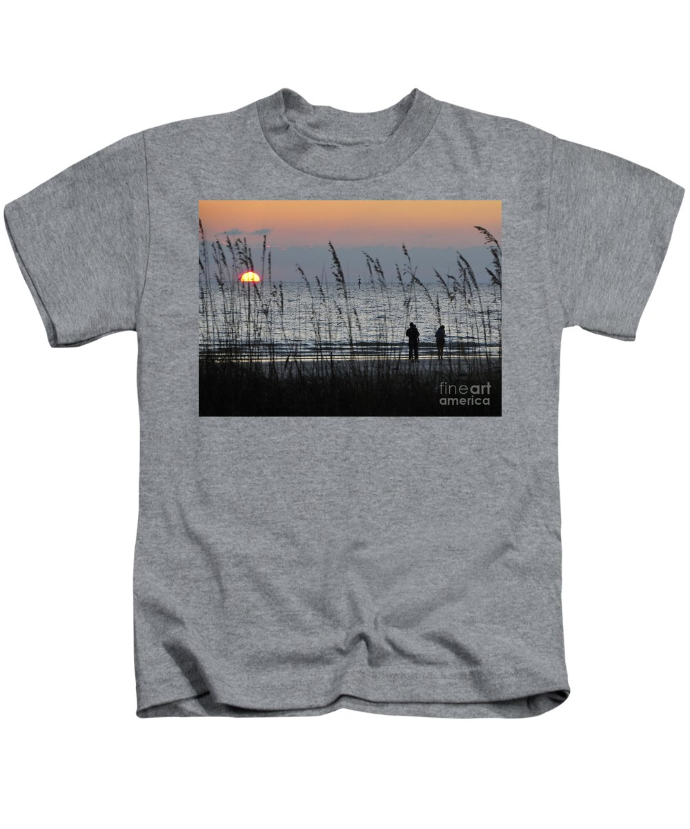 Sunset Kids T-Shirt featuring the photograph Sunset Watching by David Lee Thompson