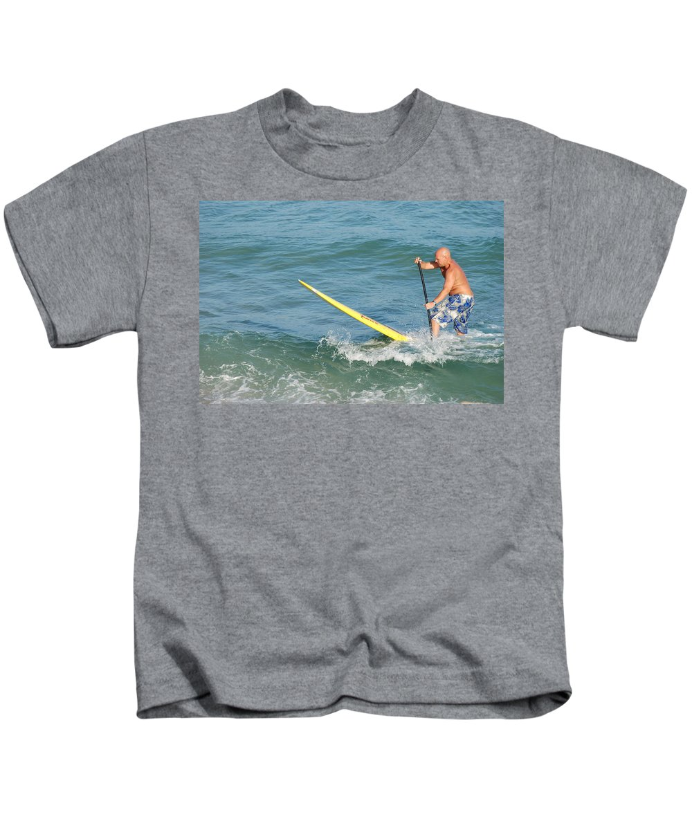 Sea Scape Kids T-Shirt featuring the photograph Surfer Dude by Rob Hans
