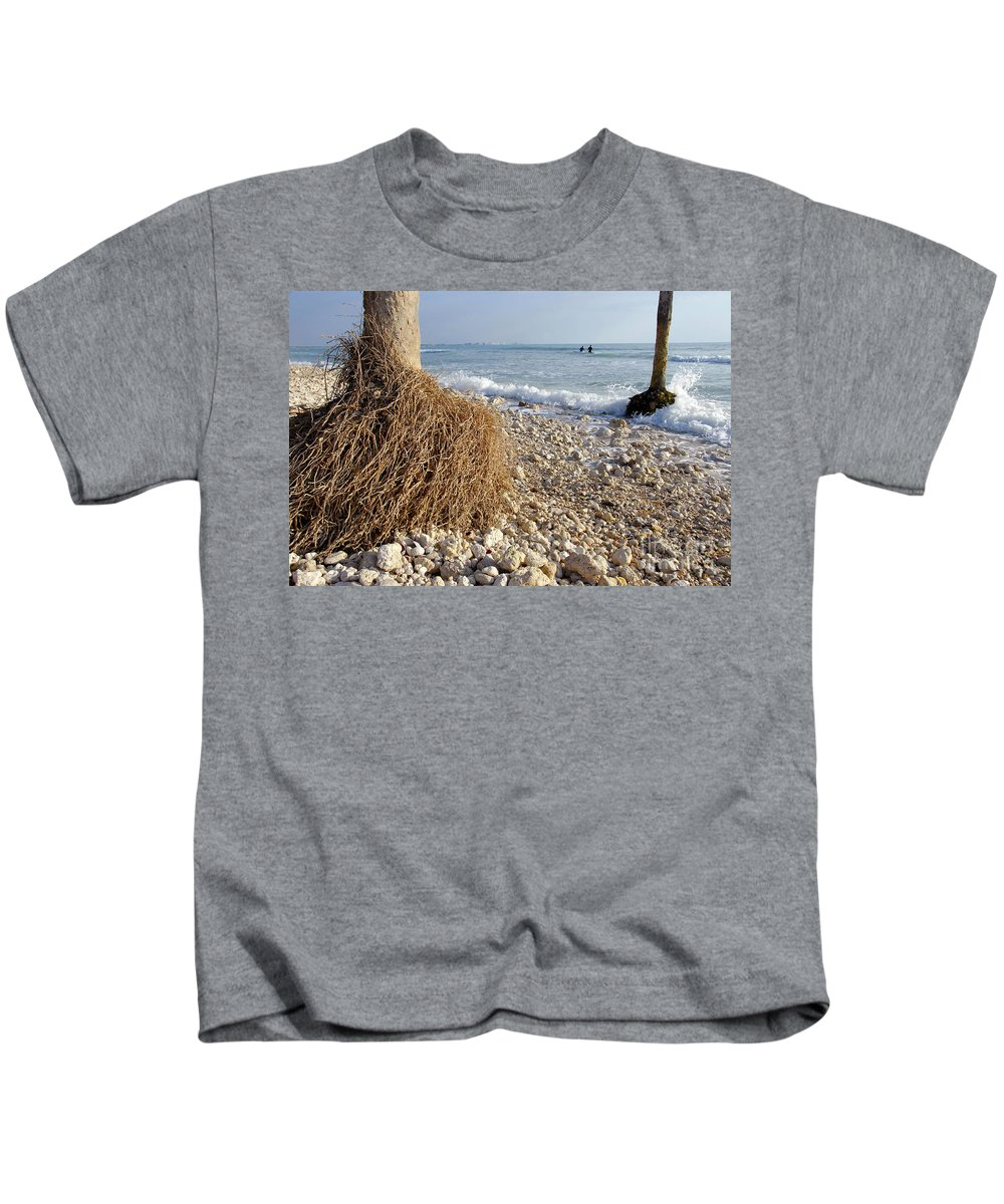 Surfing Kids T-Shirt featuring the photograph Surfing With Palms by David Lee Thompson