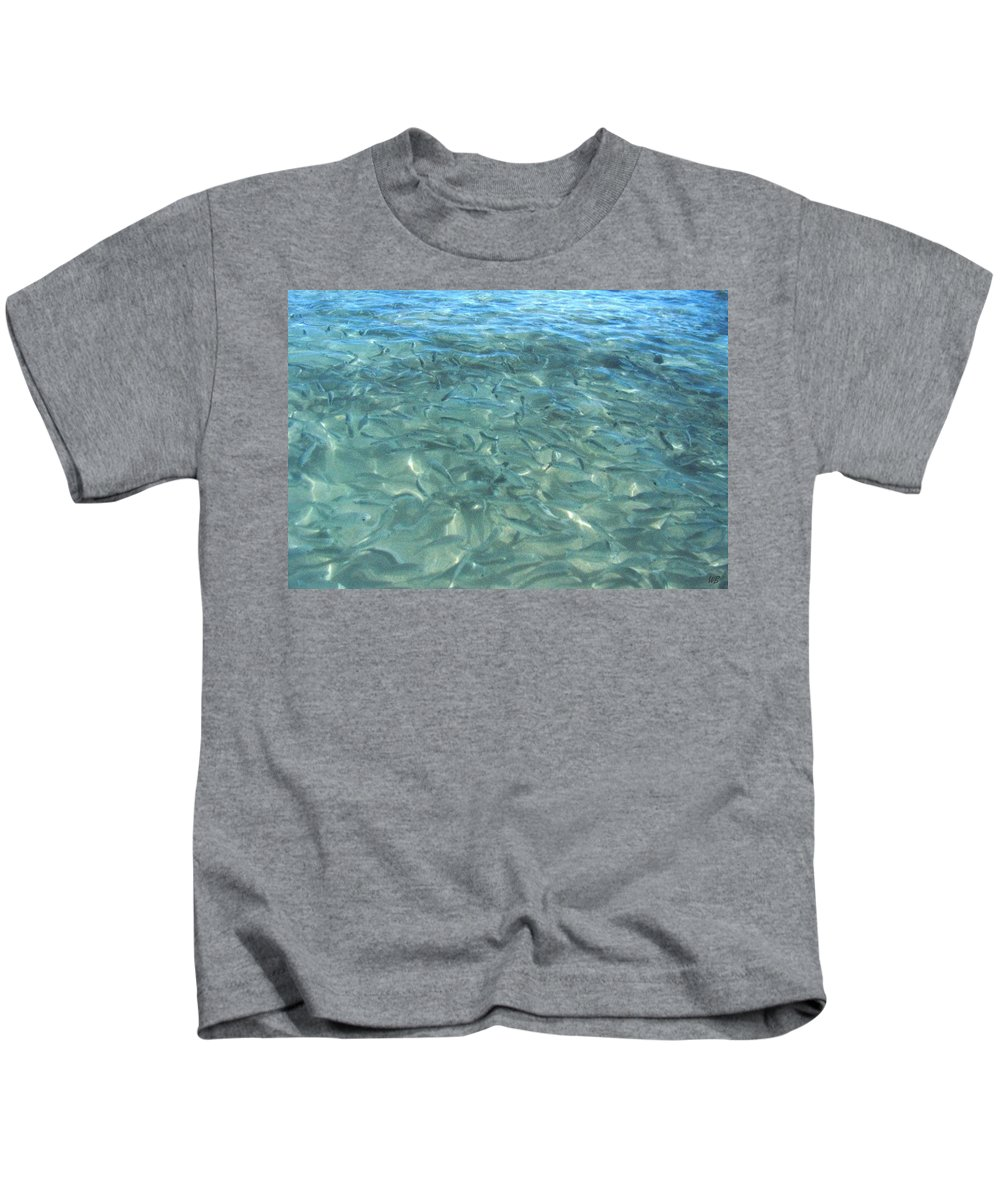 1986 Kids T-Shirt featuring the photograph Swarming Fish by Will Borden