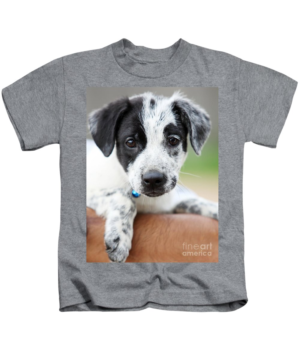 Puppy Kids T-Shirt featuring the photograph Sweetness by Amanda Barcon