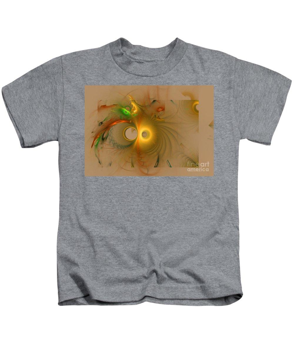 Green Kids T-Shirt featuring the digital art Swiss Cheese Look by Deborah Benoit