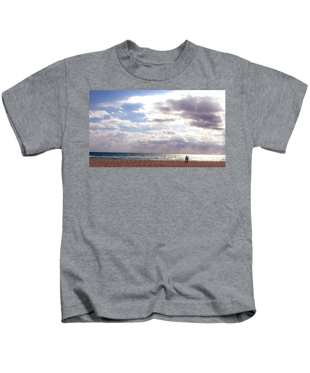 Walking Kids T-Shirt featuring the photograph Taking A Walk by Amanda Barcon