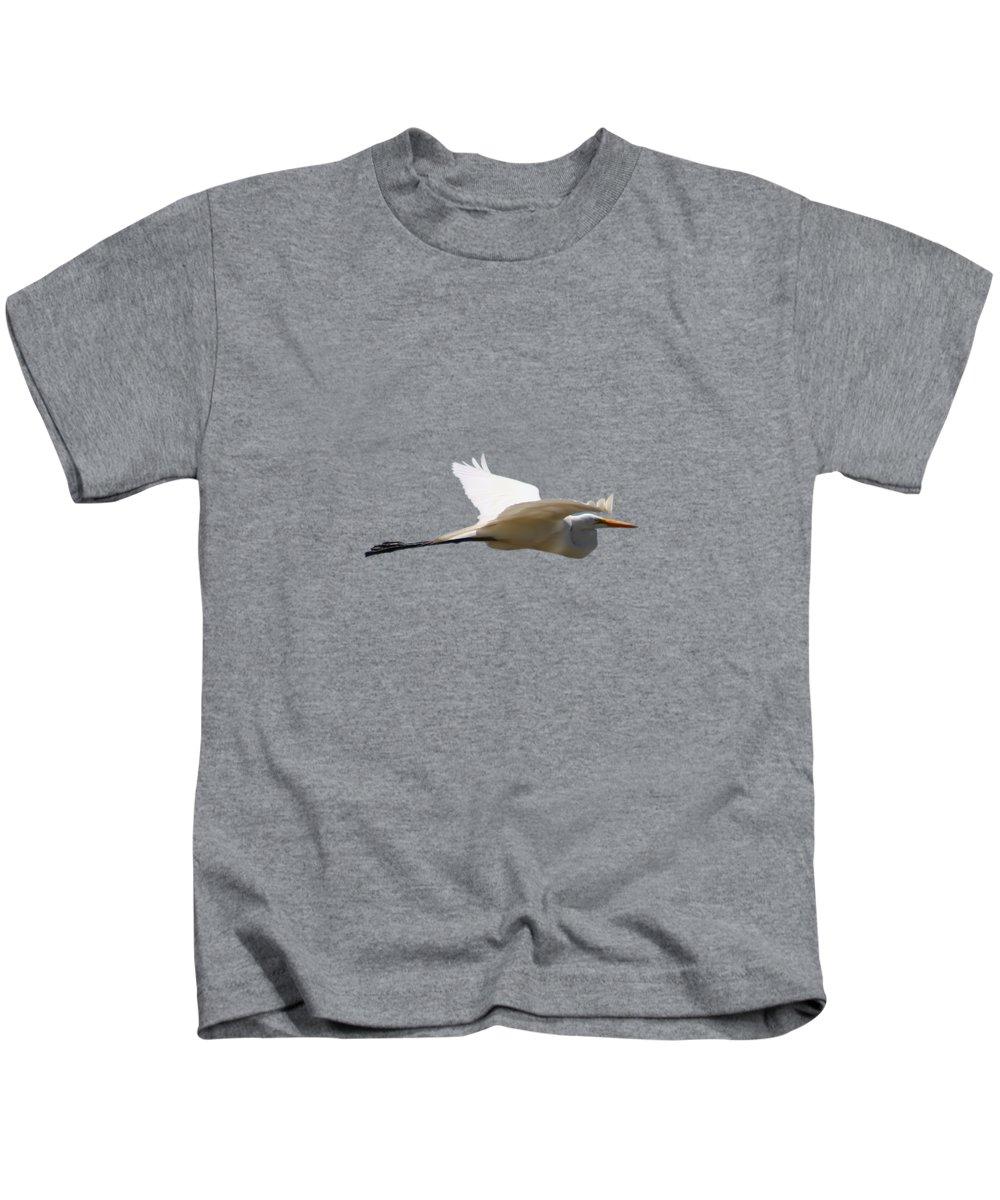 Egret Photographs Kids T-Shirts
