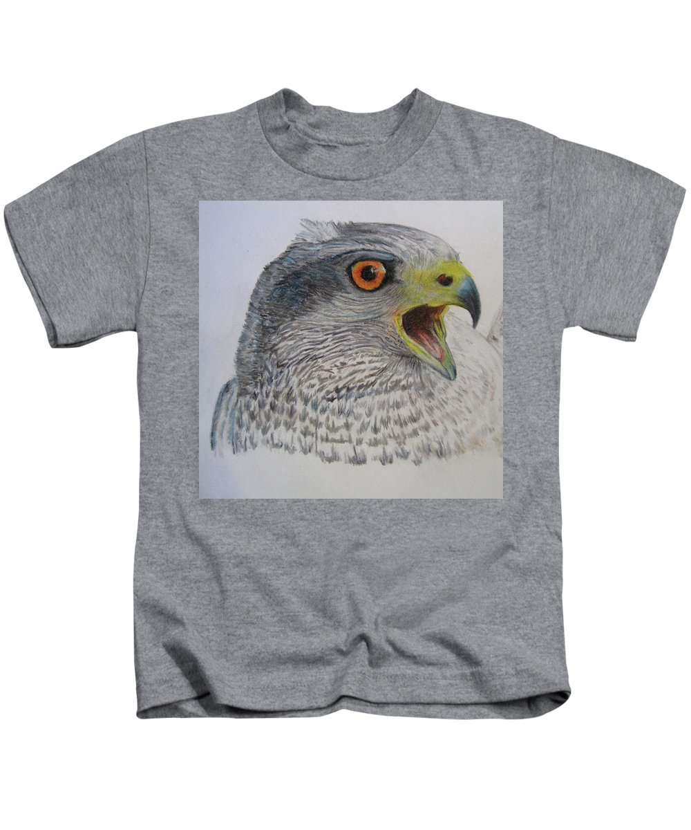 Kids T-Shirt featuring the drawing Talon by Lucien Van Oosten