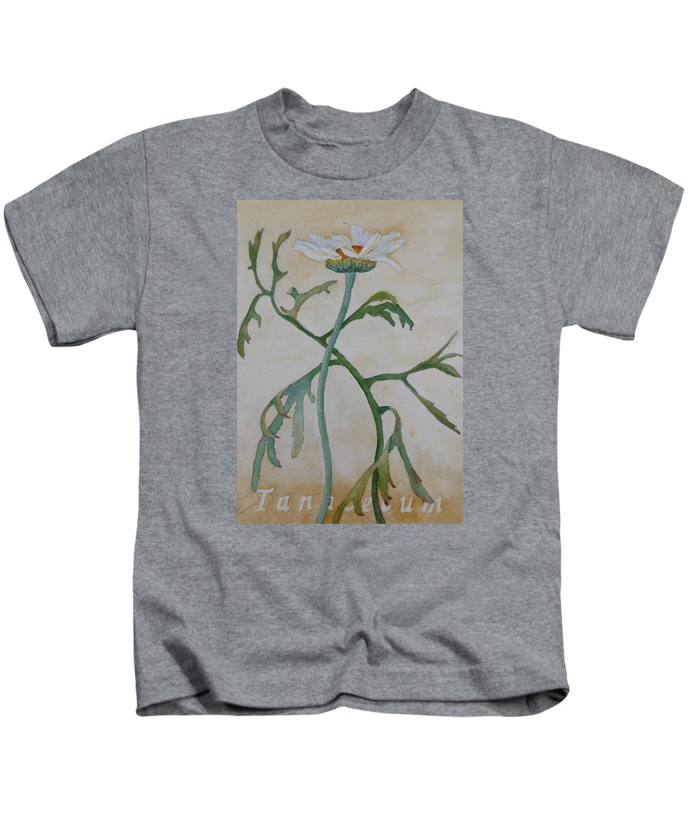 Flower Kids T-Shirt featuring the painting Tanacetum by Ruth Kamenev
