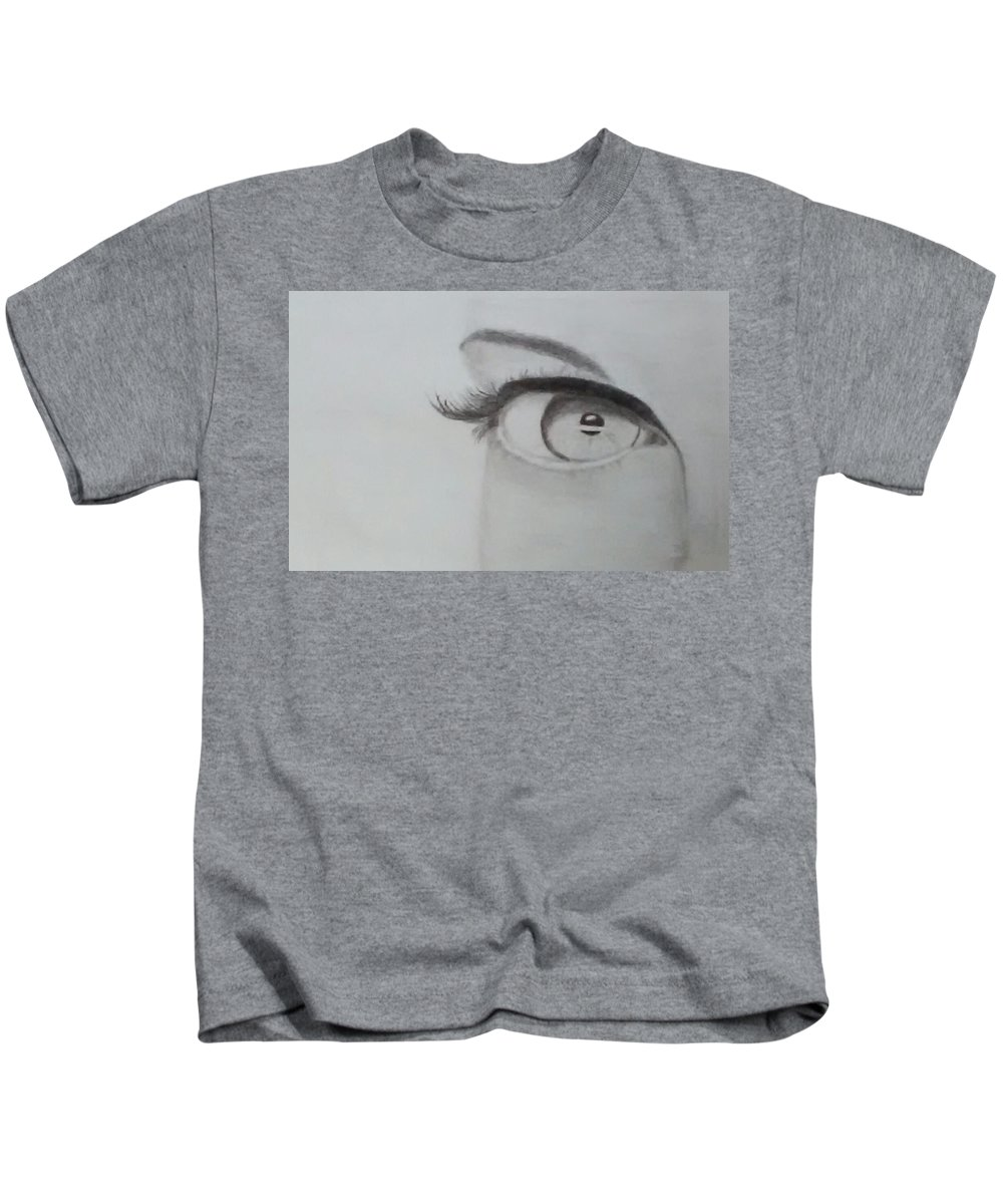 Eye Kids T-Shirt featuring the drawing Tangible Soul by Bettye Jo Brooks