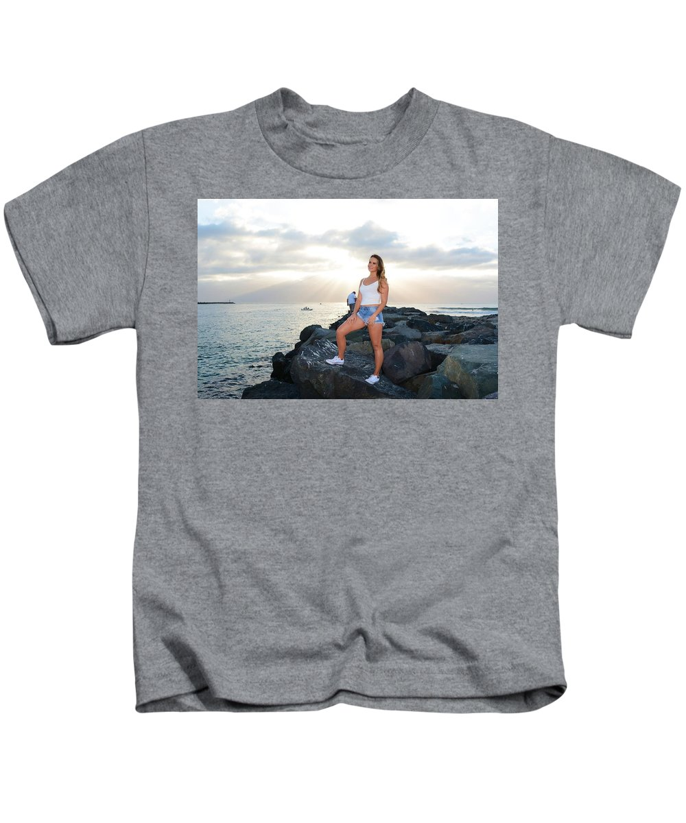 Fashion Kids T-Shirt featuring the photograph Taylor 035 by Remegio Dalisay