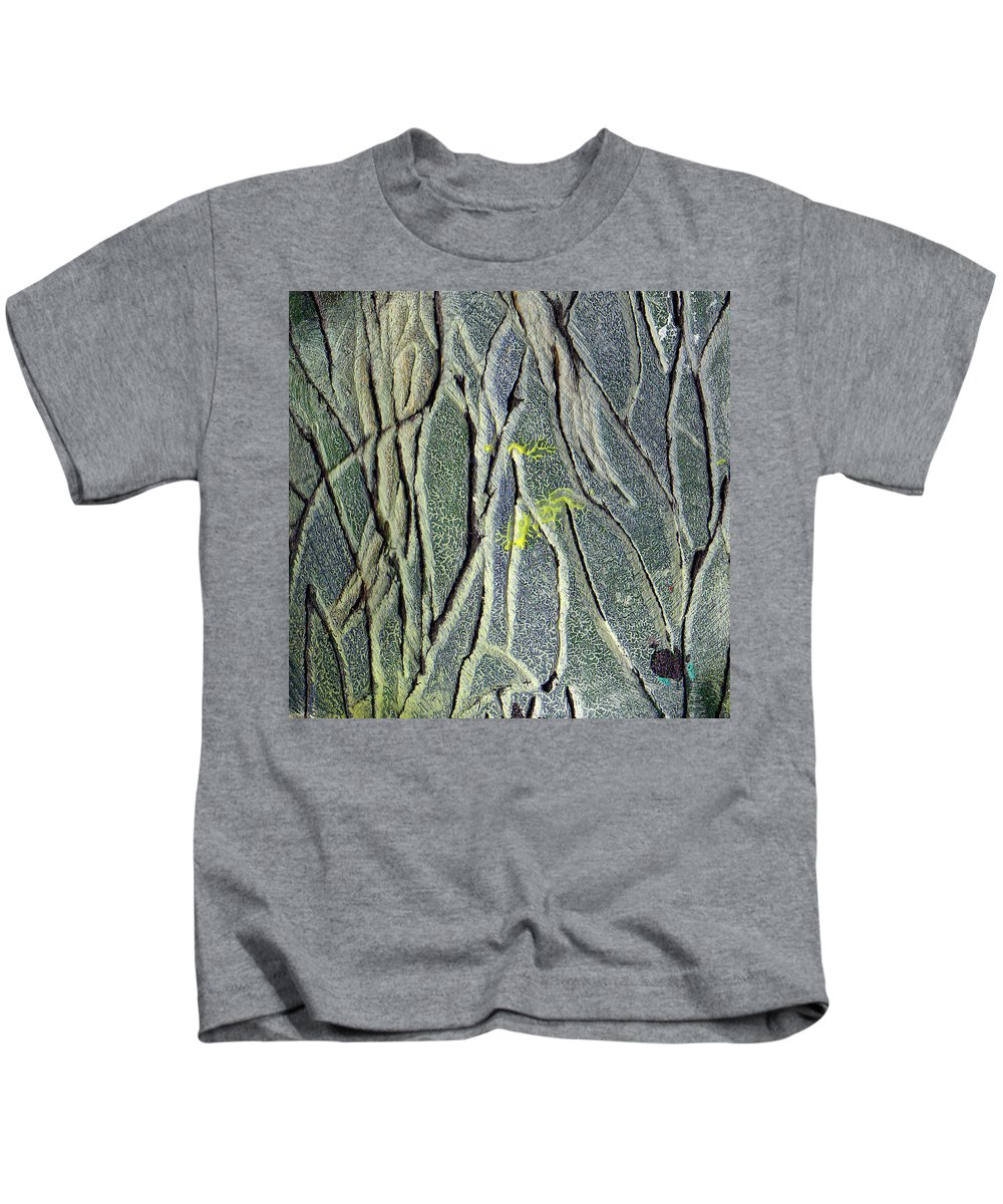 Abstract Kids T-Shirt featuring the painting Texture Study One  Entanglement by Wayne Potrafka