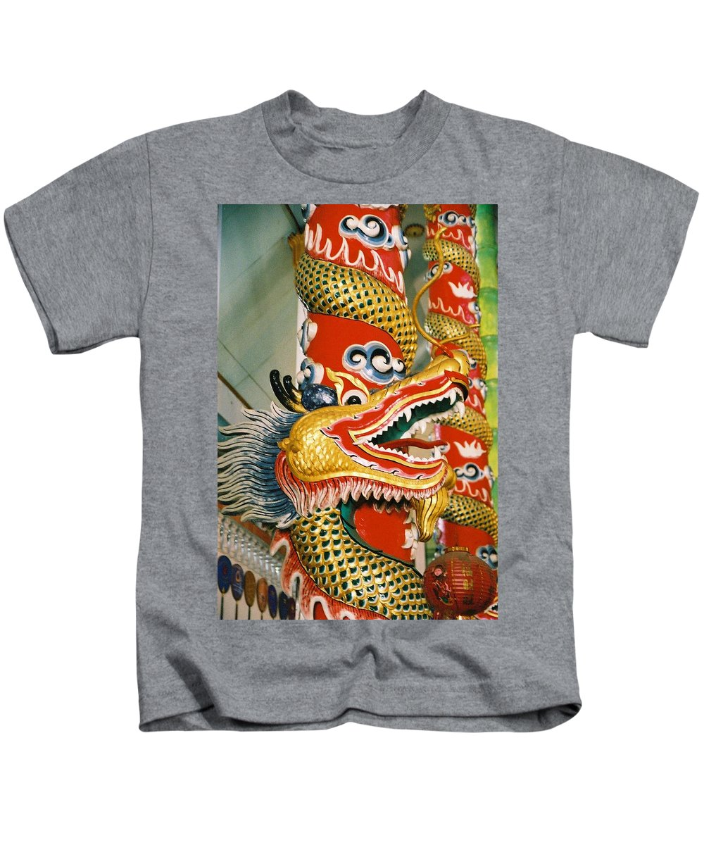 Animal Kids T-Shirt featuring the photograph Thai Dragon by Mary Rogers