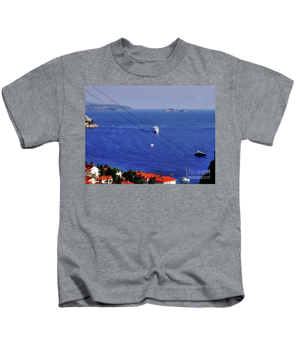 Dubrovnik Kids T-Shirt featuring the photograph The Adriatic Sea by Lance Sheridan-Peel