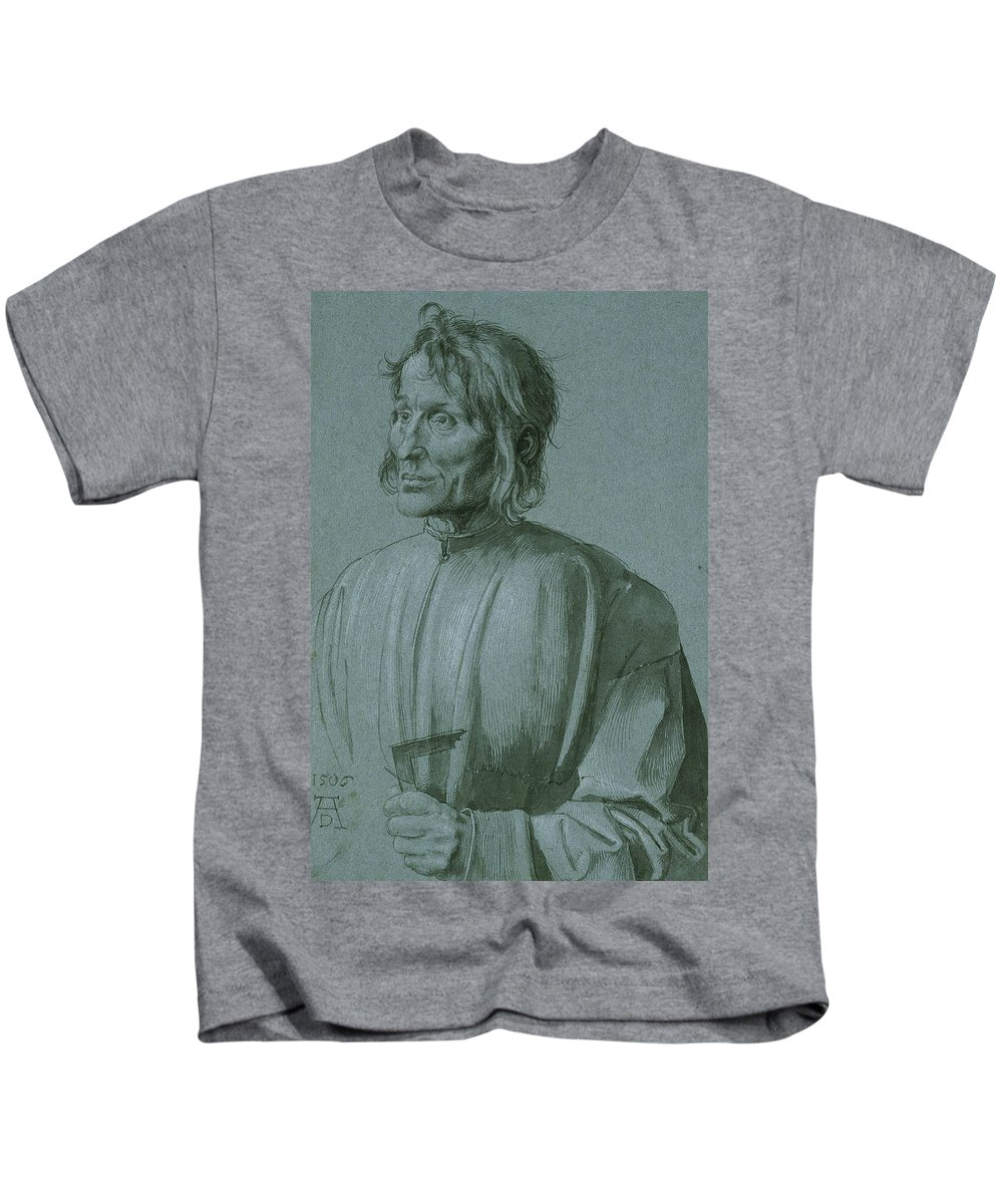 Albrecht Durer Kids T-Shirt featuring the drawing The Architect Hieronymus Von Augsburg by Albrecht Durer