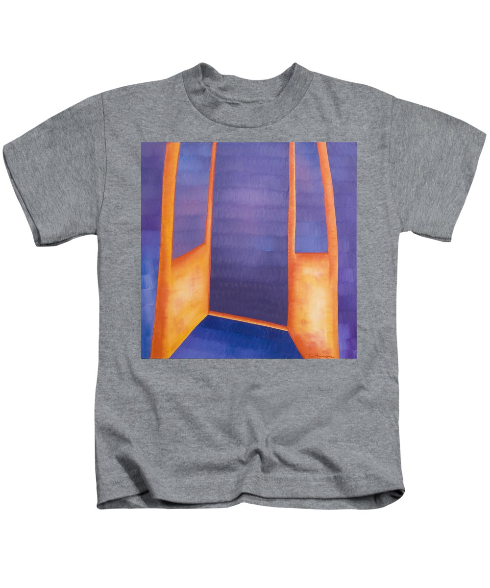Death Kids T-Shirt featuring the painting The Arrival by Judy Henninger